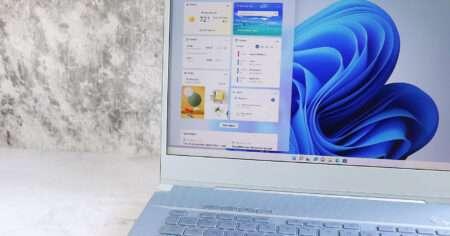 Microsoft Windows 11 on a laptop